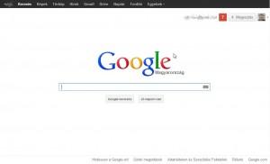 Google, már háttérkép nélkül