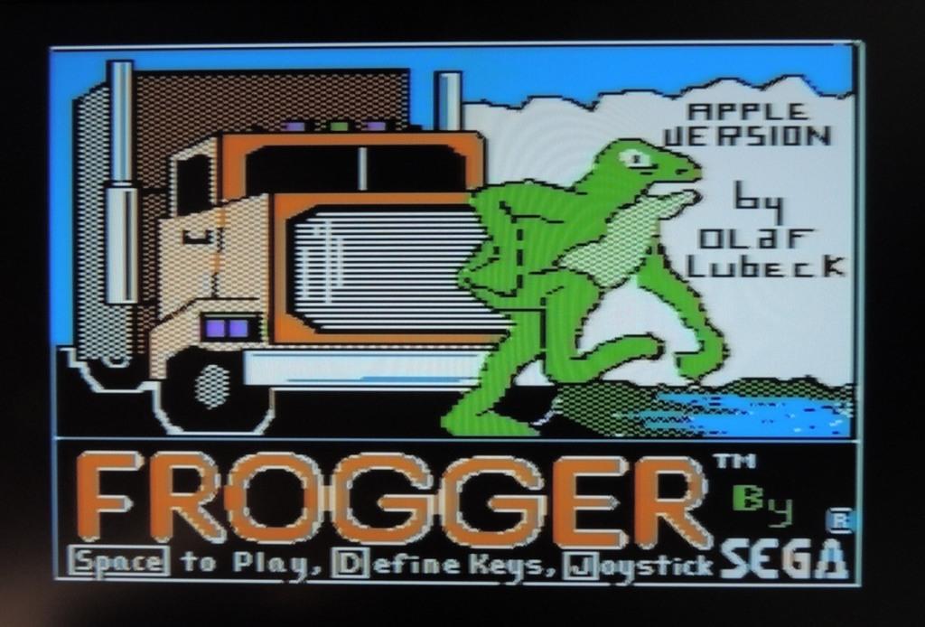 Apple IIe Frogger