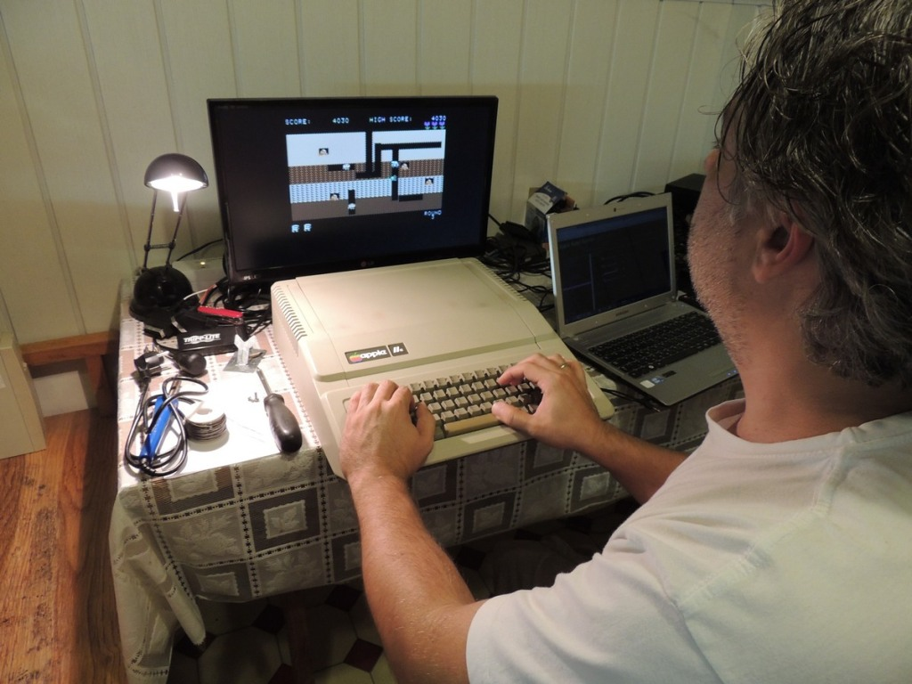 Apple IIe Dig-Dug