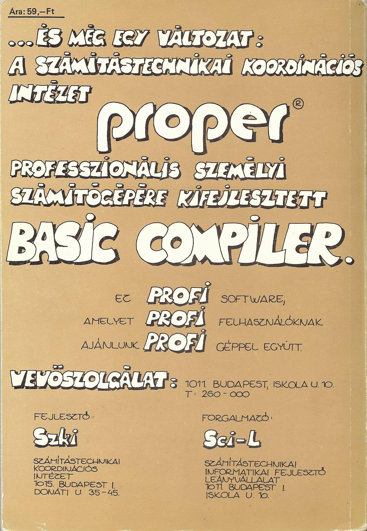 Ismerd meg a BASIC nyelvjárásait HT1080Z ABC80 ZX81 hátoldal