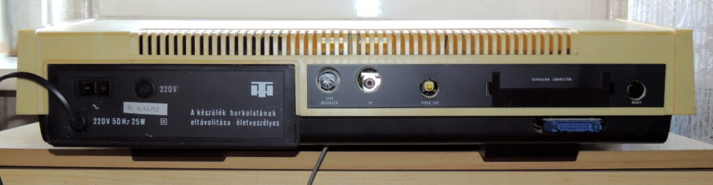 Back of the HT1080Z