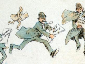 Frederick Burr Opper Fake News illusztrációja