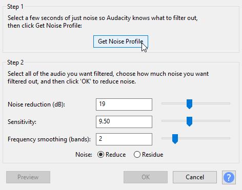 Get Noise Profile