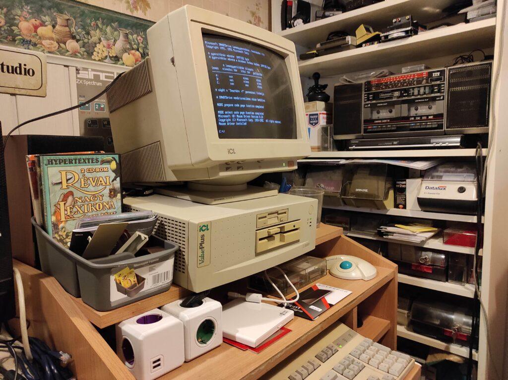 PC 486SX konfigurációm a konyha sarkában