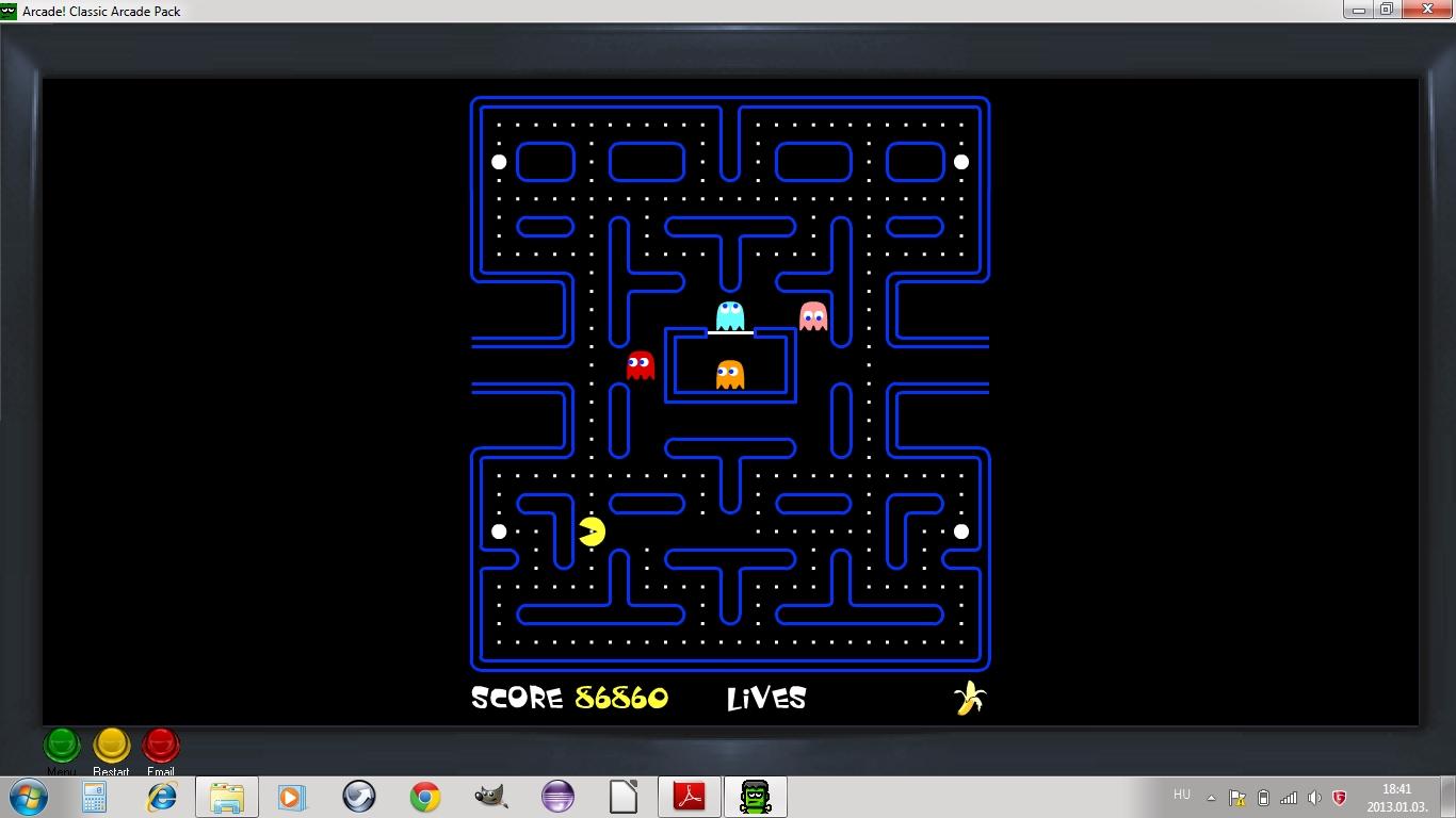 Zimi Pacman rekordja, screenshot